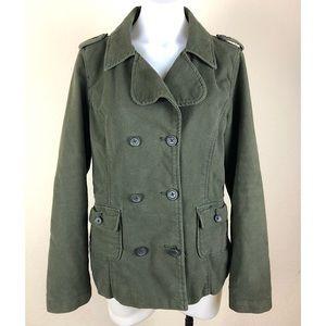 Mossimo Womens Blazer Jacket Green Military Coat